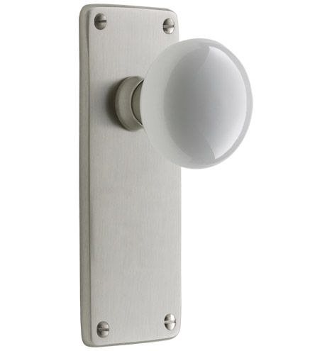 Benson white porcelain knob interior door set door sets - Interior door handles and hinges ...