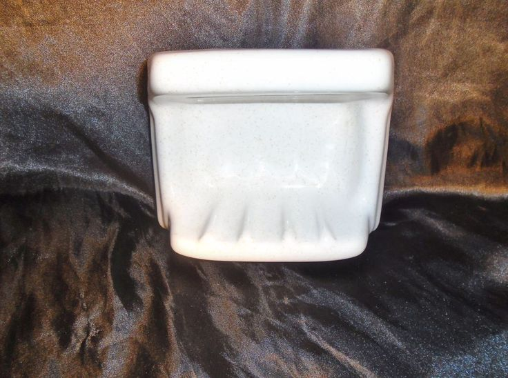 Vintage Brown Speckle Cream Ceramic Recessed Tile-in-Fush soap Dish Grab Bar New #Unbranded