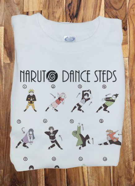 Custom Premium Naruto shippuden Opening Dance steps Funny Cosplay Shirt T-Shirt Tee merchandise gear poster dvd keychain figure soundtrack plush bag