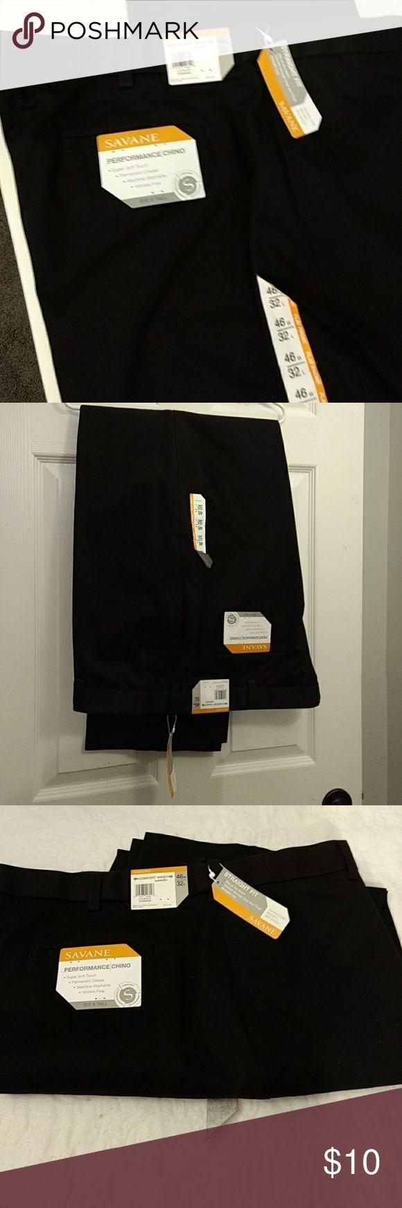 Slacks Black straight fit/comfort waist savane Pants Dress