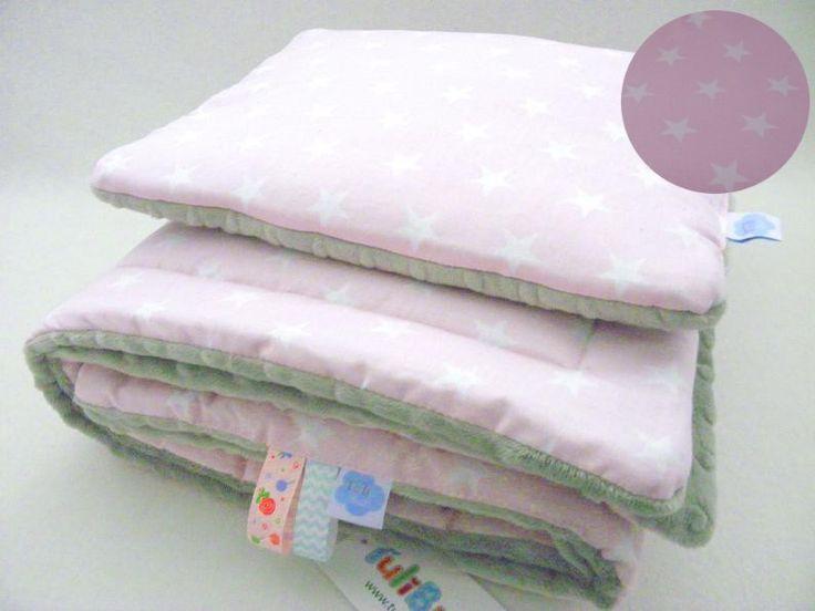 minky kocyk, minky kocyk gwiazdki, minky kocyk różowe gwiazdki, kocyk styl skandynawski, baby blanket stars, fluffy baby blanket,