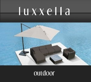 Luxxella Gazebo 7 pcs Outdoor Patio Wicker Furniture Sofa Set DARK GREY