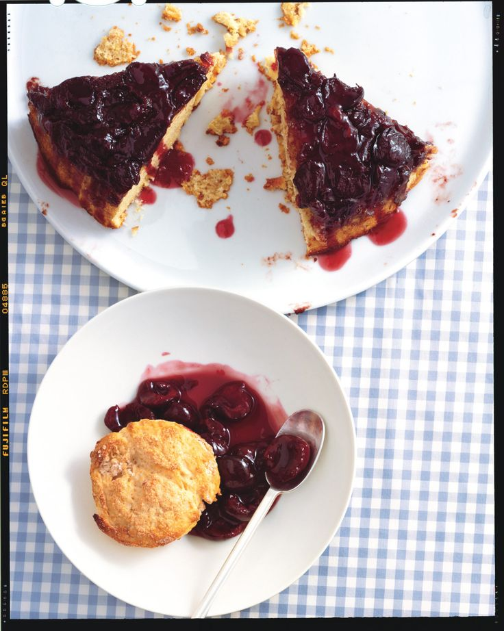 Cherry-Cornmeal Upside-Down Cake | Recipe | Cherries, Upside down ...