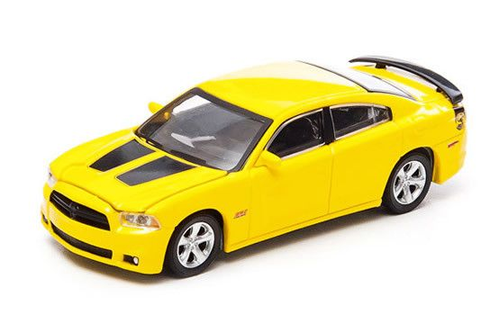 1:64 scale 2013 Dodge Charger SRT8 Super Bee (Yellow) – by Greenlight Collectibles