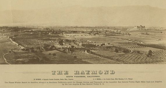 Vintage Map  South Pasadena California 1887 by Imagerich on Etsy, $45.00