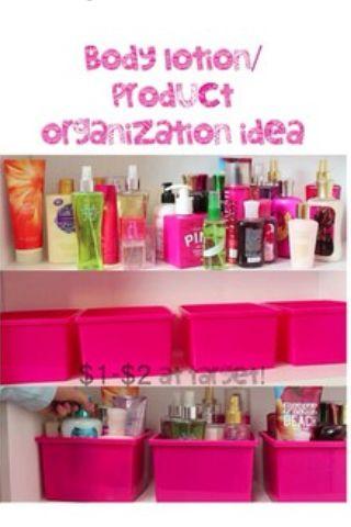 Easy DIY body lotion storage