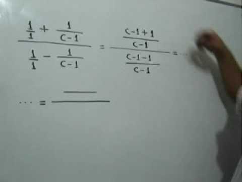 Simplificación de una fracción compleja: Julio Rios explica cómo simplificar una Fracción Compleja.