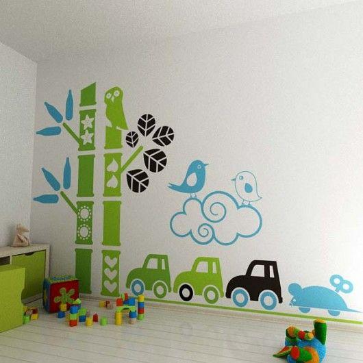 pokój dziecka - naklejki ścienne-Naklejka na ścianę: Titit jadą