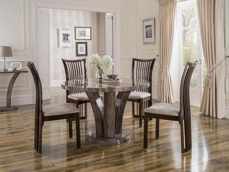 Classy Of Round Timber Dining Table dining Dining Room Sophia Round Marble Dining Table For 4 Wood Dining Chairs Above Glossy Laminate Wood
