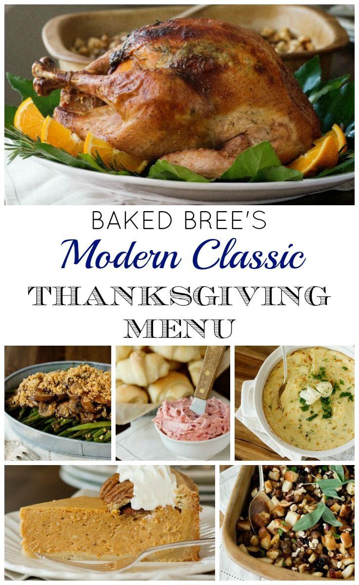 Baked Bree's Modern Classic Thanksgiving Menu