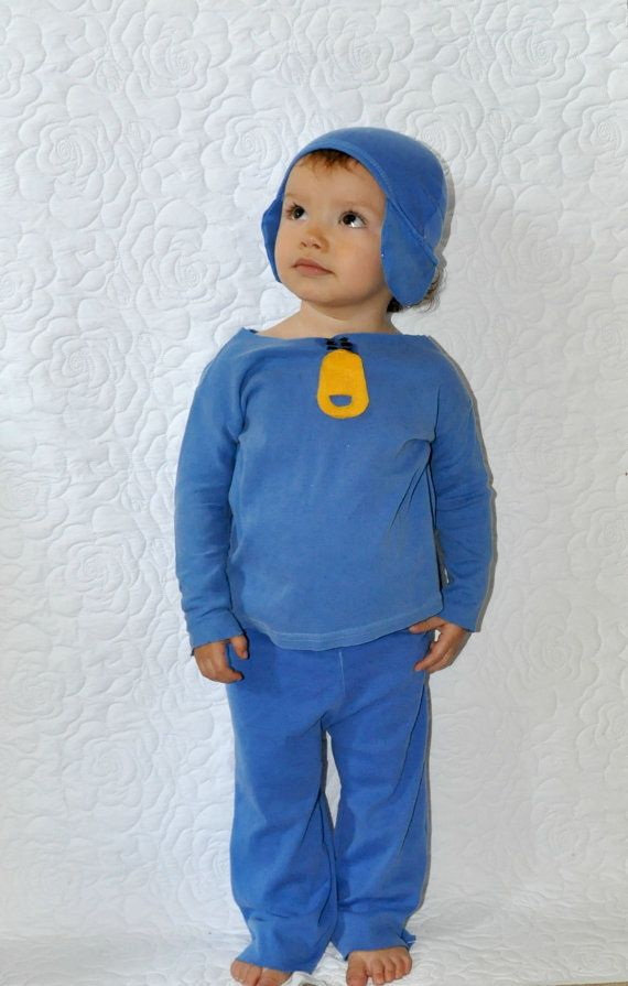 AJ would look so cute in this!  Pocoyo  inspired costume boys babies kid toddlers infants child's children baby Halloween costume birthday parties