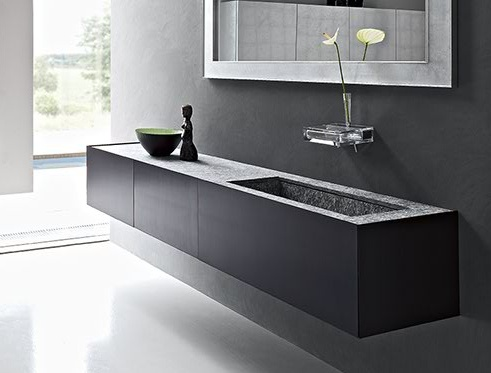 Time, washbasin stand and structure by Italian brand Toscoquattro _