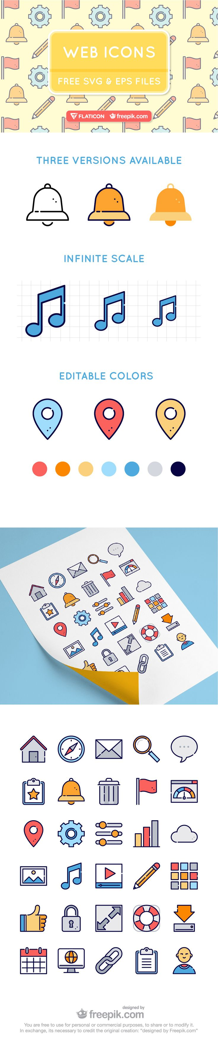 ⬇ Free download: Web Icons Vector #webdesign