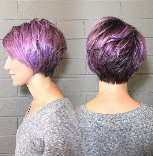 cut not color even tho purple IS my fav color but not for my hair!