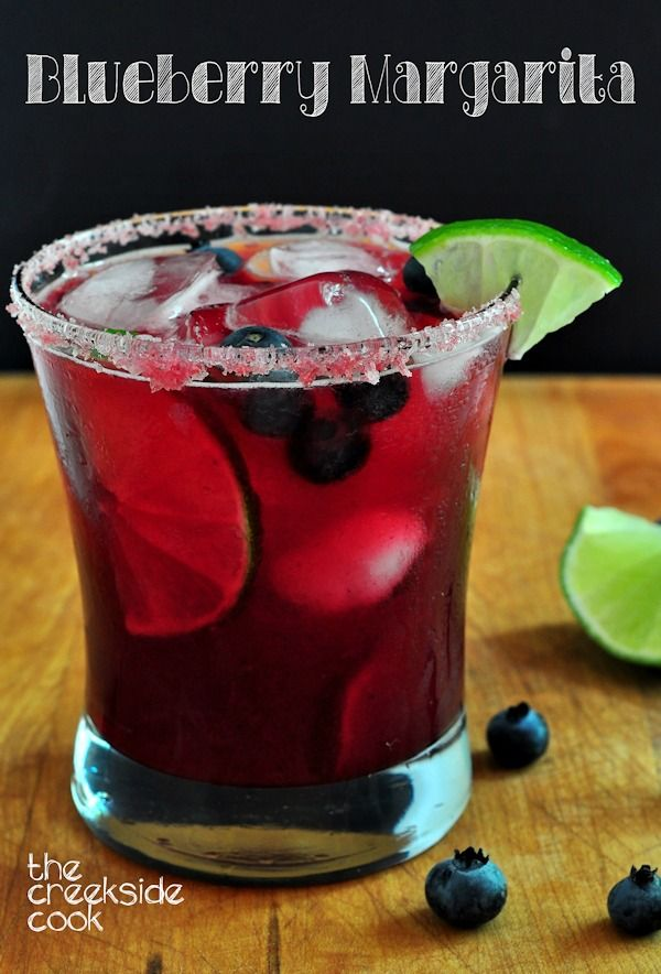 Bright, perfectly fruity and tart - Blueberry Margarita - The Creekside Cook