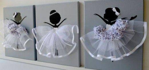 Cuadros decorativos de bailarina de ballet