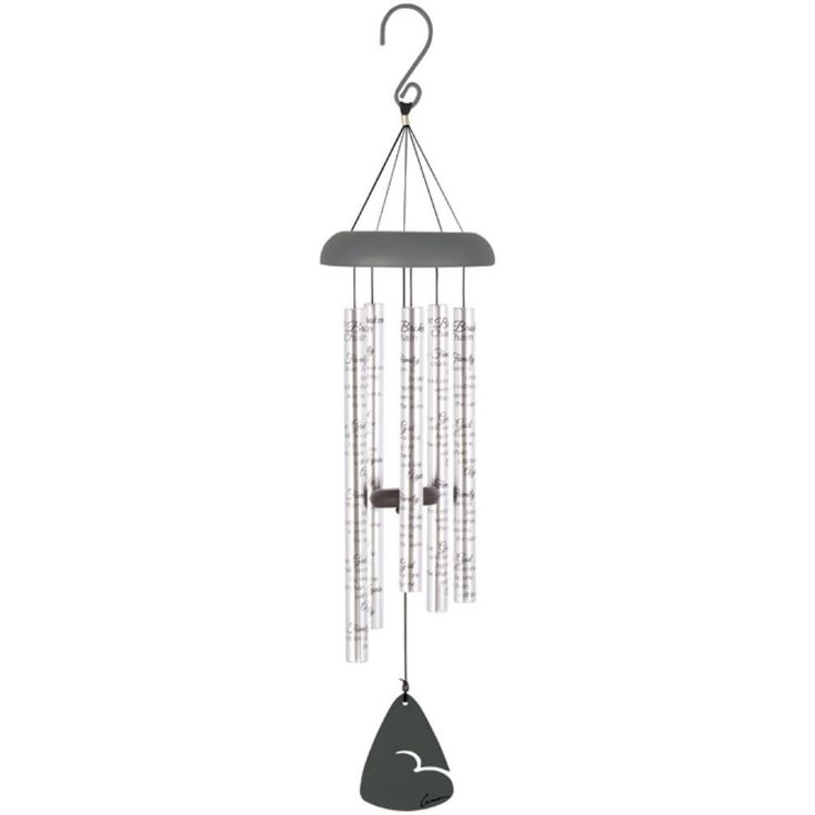 u0027Family Chainu0027 Silver Sonnet Wind Chime 8