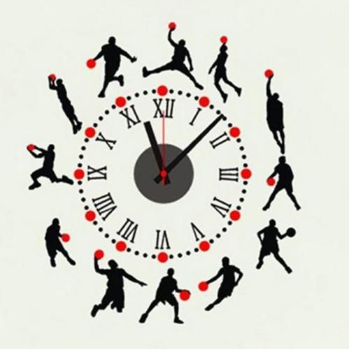 Basketball #player #sport wall clock wall decal sticker #vinyl real clock 60*65cm,  View more on the LINK: http://www.zeppy.io/product/gb/2/271937817890/