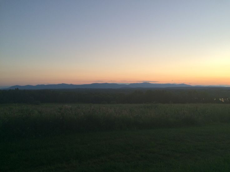 This is the Catskills as they look from Harrier Hill, a Columbia Land Conservancy property.
