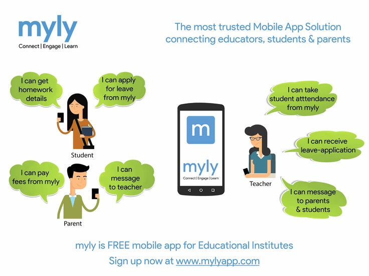 myly is #FREE mobile app for Educational #Institutes #Student I can get homework details I can apply leave from myly #Parent I can pay fees from myly I can message to teacher #Teacher I can take student attendnace from myly I can receive leave application from myly I can message to parents and from myly Sign up now at www.mylyapp.com