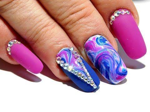 Красивый и простой осенний дизайн ногтей. ТОП удивительные дизайны ногтей Абстракция - YouTube