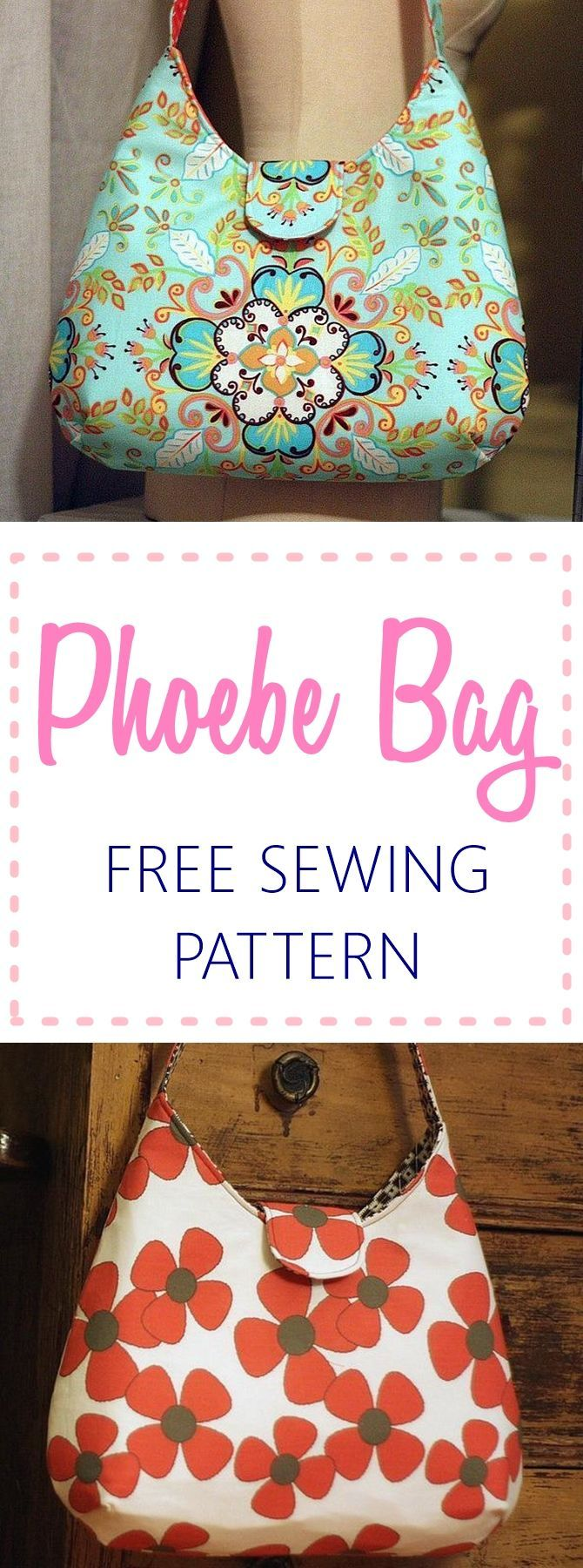 Phoebe bag free sewing pattern - perfect for beginners | handbag patterns | purse patterns