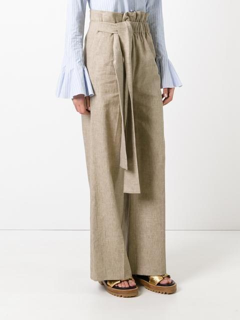 MSGM gathered waist trousers