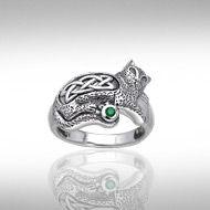Magickal Cat Silver Ring TRI141