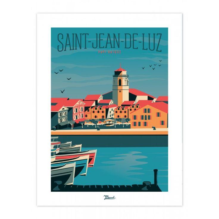 les 51 meilleures images du tableau affiches pays basque sur pinterest sud ouest affiches de. Black Bedroom Furniture Sets. Home Design Ideas