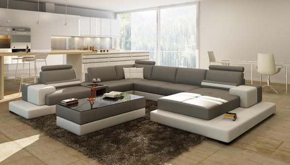 Luxury Modern Unique Sectional Sofa Living Room Furniture With
