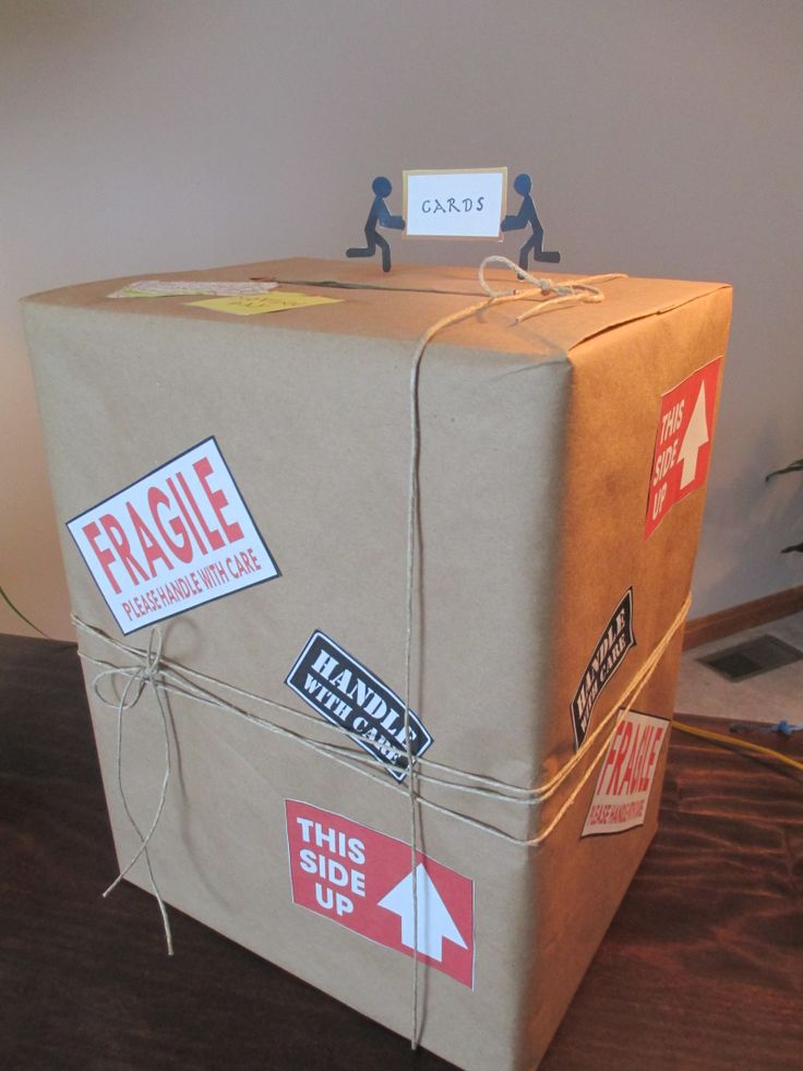 "Card box for ""Moving"" Party - have friends drop in notes to mail in the first few months following the move"