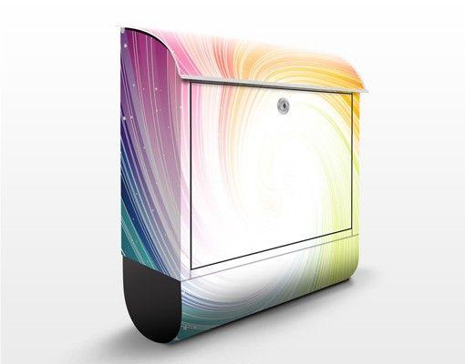 Briefkasten mit Zeitungsfach - Kaleidoscope - Modern Bunt