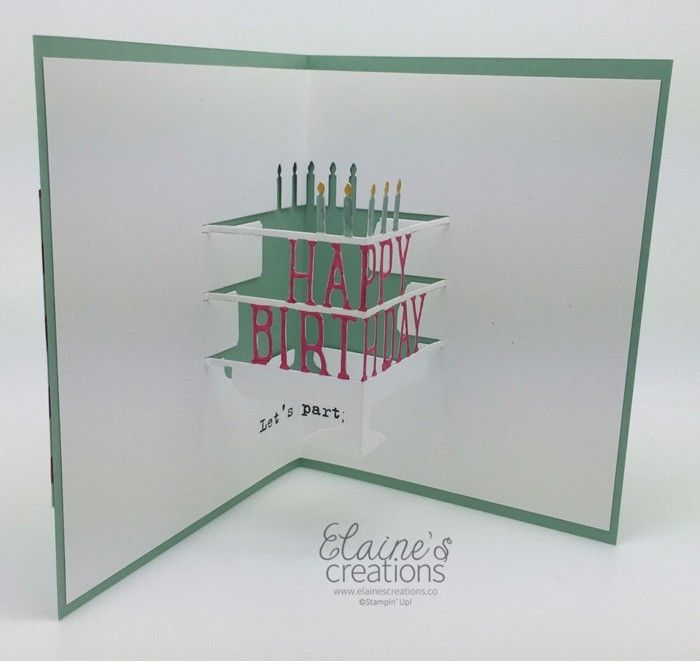 geburtstagskarte selber basteln 3D effekt negatover raum