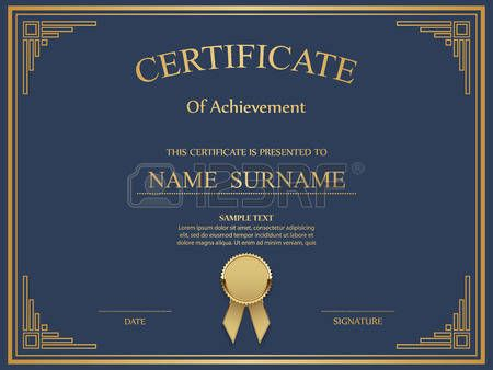 62 best award certificates images on pinterest award certificate template vector certificate template illustration yelopaper Images