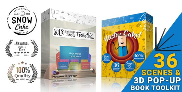 3D Pop-Up Book Toolkit featuring Mister Cake | Toolkit & Story Construction Set by snowcake