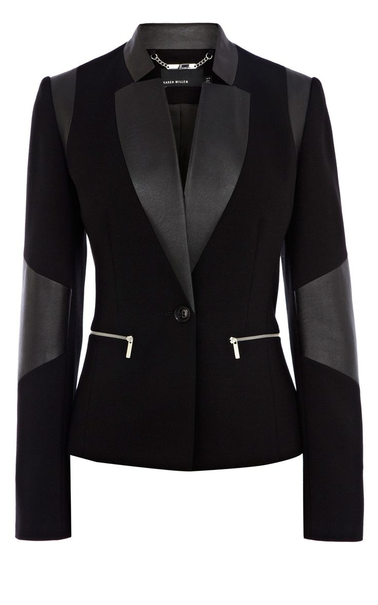 Signature jersey blazer | Luxury Women's shop_all | Karen Millen