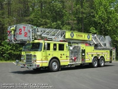◆Ladysmith Volunteer Fire Company, Ruther Glen, Caroline County, VA - Tower 2 ~ 2000 Pierce Sky-Arm Quint◆