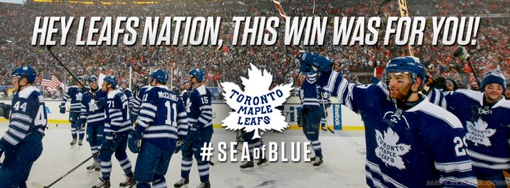 Congrats to our friends @Lisa Townson MapleLeafs for winning the #WinterClassic! We always appreciate your support!