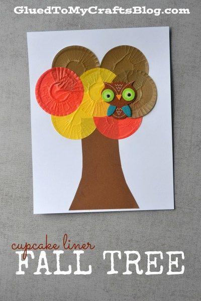 Cupcake Liner Fall Tree - Kid Craft Idea