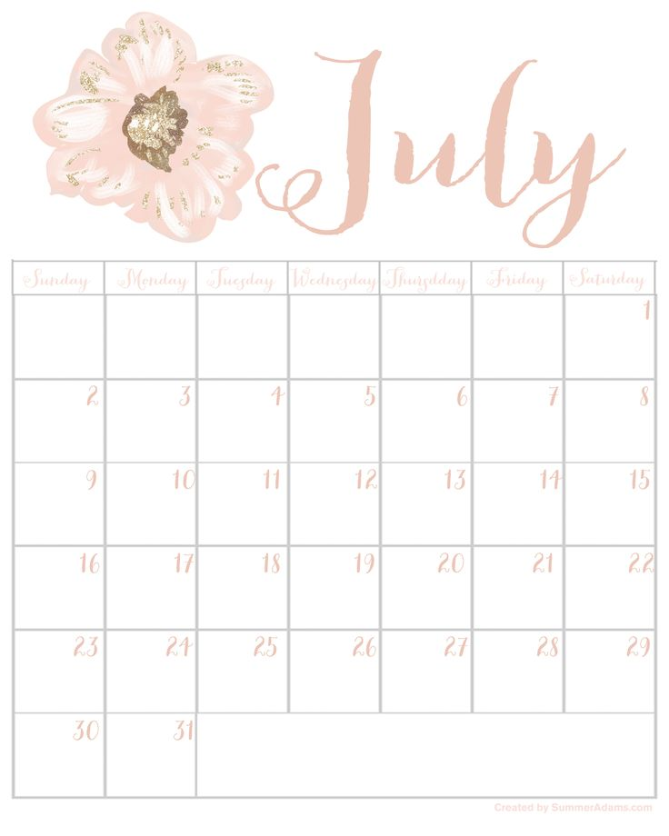 Click this post to receive my free 2017 Calendars from July through December! These blush calendars are in 2 different stylish themes.