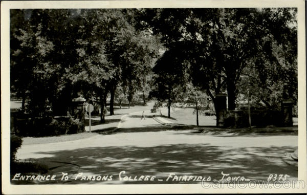 Entrance To Parsons College Fairfield Iowa