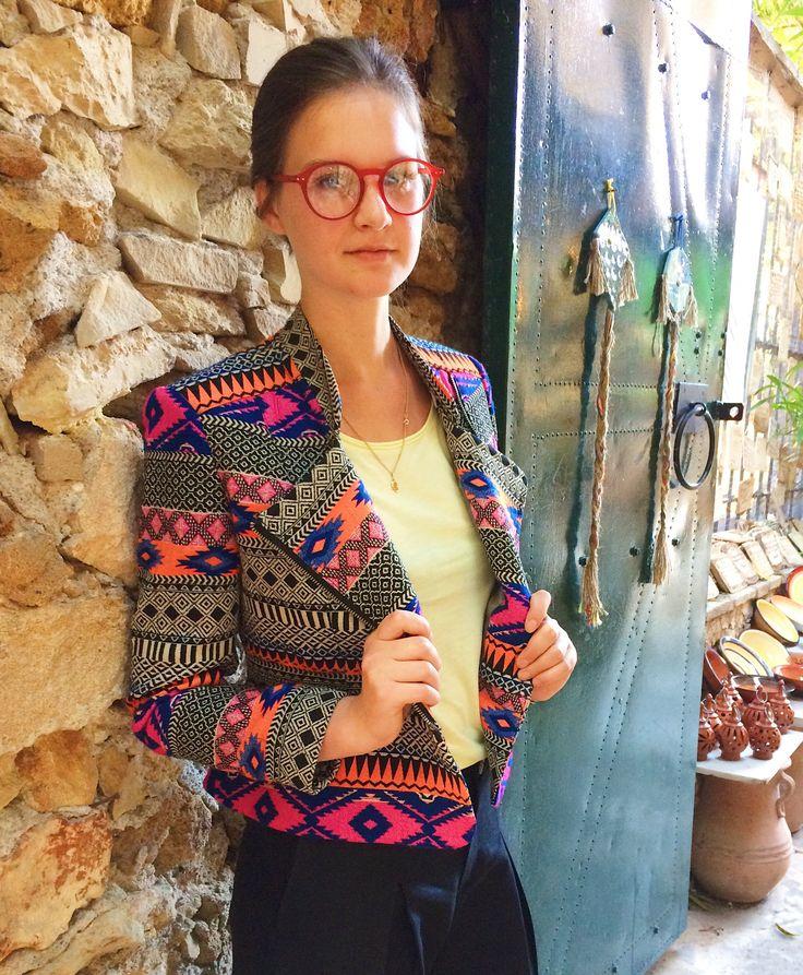 Wearable Art Jacket - Tribal Jacket - Bohemian women's Wear -  Hippie Blazer - Unique Jacket - Woven Cotton by Snophemp on Etsy