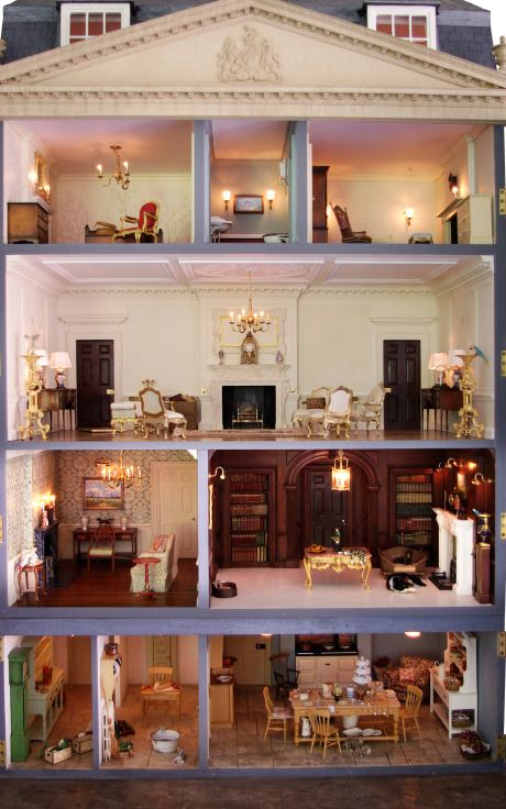 Handmade Classic English Unfurnished Dollhouse by Mulvany & Rogers Now Available on Moda Operandi.  $57,670.00 -  I just love their work! http://modaoperandi.com