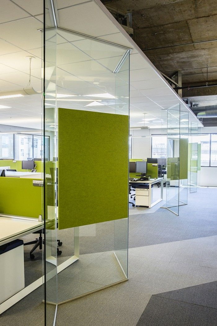 RealPage's Energetic and Open San Francisco Offices. Pin board on glass partition!