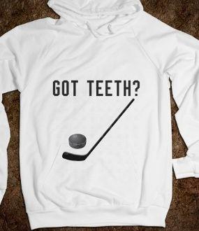Hockey Hoodie Got Teeth?