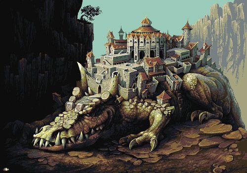 "Pixel art by Yuriy Gusev, also known by his internet moniker of ""Fool""."