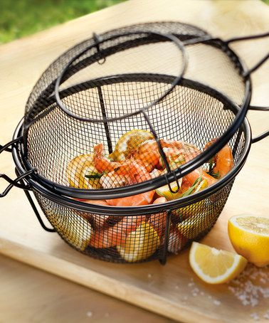 This Chef's Outdoor Grill Basket & Skillet is perfect! #zulilyfinds