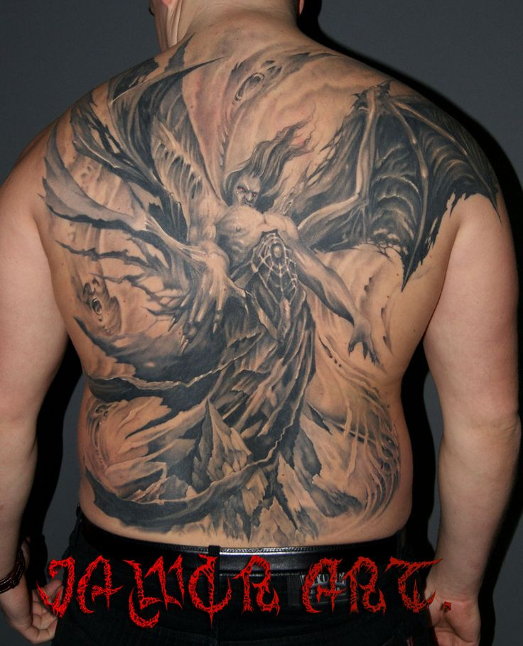 dark#angel#evil#tattoo#jaworart.