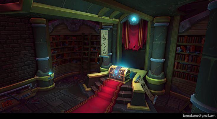 ArtStation - Treasure Room Library, Yili Tan