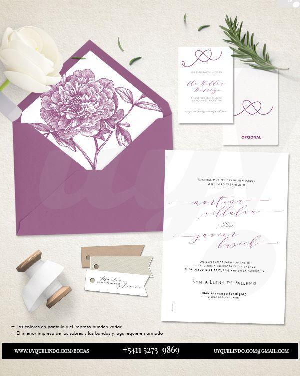 INVITACION DE BODAS ADRIENNA La invitación de bodas Adrienna está diseñada en…